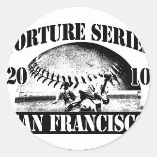 TortureSeriesTrans300 Classic Round Sticker