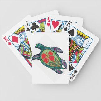 Tortus Hibiscus Bicycle Playing Cards