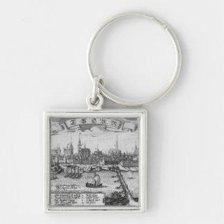 Torun, Poland Silver-Colored Square Keychain