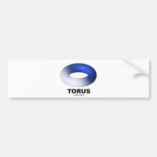 Torus (Blue Toroid Topology) Car Bumper Sticker