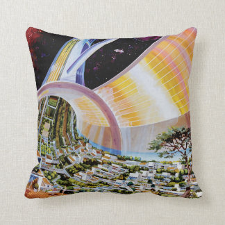 Torus Space Station Habitat Colony Artist Concept Throw Pillow