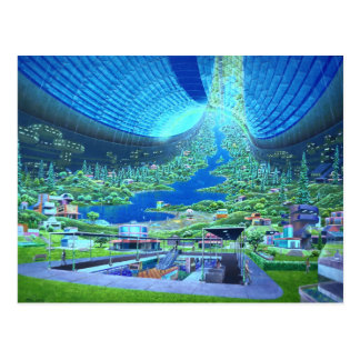 Torus Space Station Post Card