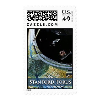 Torus Space Station under Construction Postage
