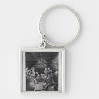 Tory Pandemonium, from John Trumbull's Silver-Colored Square Keychain