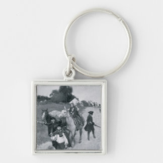Tory Refugees on Their Way to Canada Silver-Colored Square Keychain