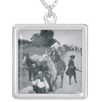 Tory Refugees on Their Way to Canada Silver Plated Necklace