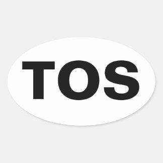 TOS Oval Sticker