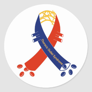 TOS support ribbon stickers