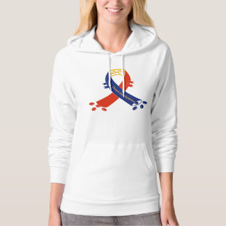 TOS Support Ribbon Woman's Hoodie