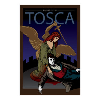 Tosca, ópera póster
