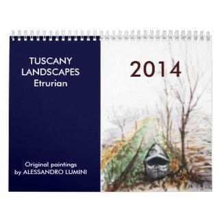 TOSCANA AJARDINA Etrurian 2014 Calendarios