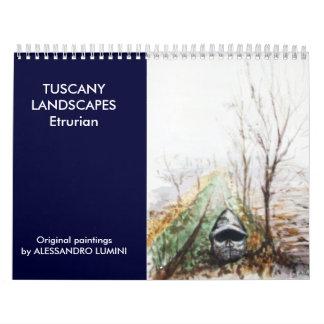 TOSCANA AJARDINA Etrurian 2016 Calendario De Pared