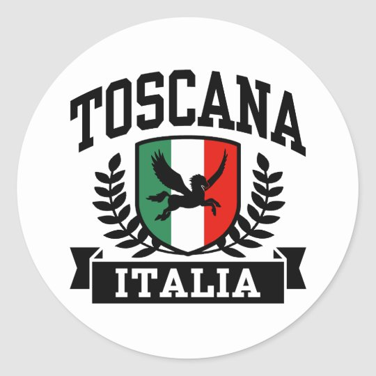 Toscana Classic Round Sticker