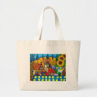Toscana encanta el bolso de compras bolsa tela grande
