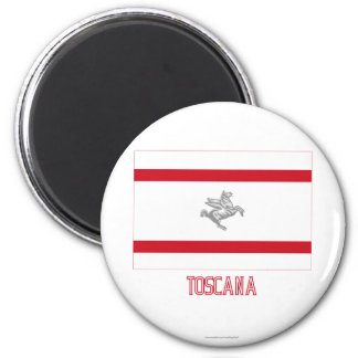 Toscana flag with name magnet