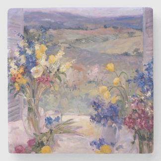 Toscana floral posavasos de piedra