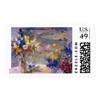 Toscana floral sellos postales