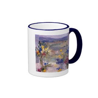 Toscana floral taza de dos colores