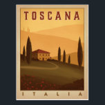 "Toscana, Italia Postcard<br><div class=""desc"">Anderson Design Group is an award-winning illustration and design firm in Nashville,  Tennessee. Founder Joel Anderson directs a team of talented artists to create original poster art that looks like classic vintage advertising prints from the 1920s to the 1960s.</div>"