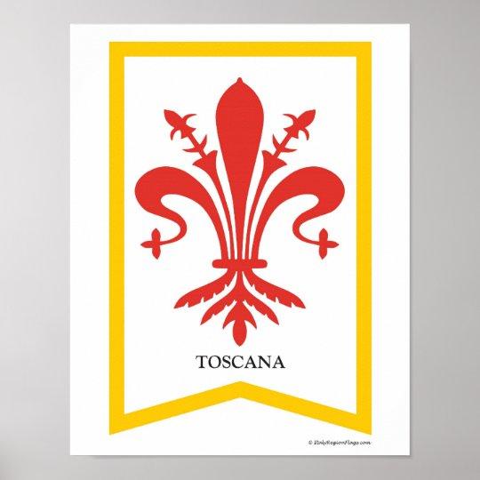 Toscana Italy Region Crest Art Print