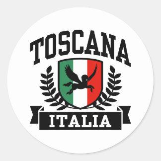 Toscana Etiqueta Redonda