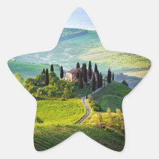 Toscana Pegatina En Forma De Estrella