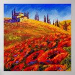 Toscana que rueda Poppy Hills Impresiones