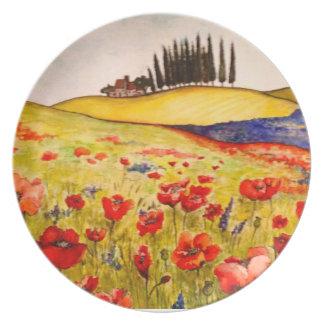 Toscany - placa de la melamina plato de comida