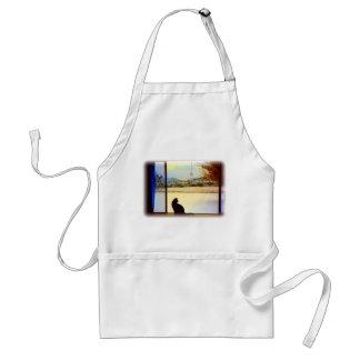 Tosca's Winter Window apron