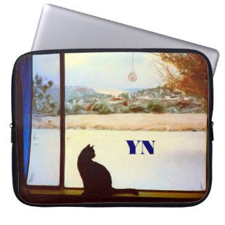 Tosca's Winter Window Laptop Sleeve
