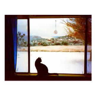 Tosca's Winter Window postcard