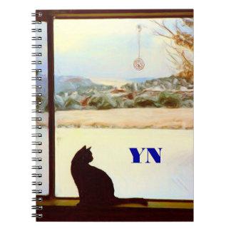 Tosca's Winter Window Spiral Notebook