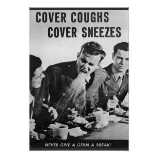 Toses de la cubierta, estornudos de la cubierta póster