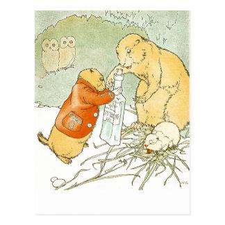 Toses enfermas del perro de las praderas del bebé tarjetas postales