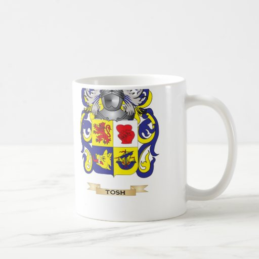 Tosh Family Crest (Coat of Arms) Classic White Coffee Mug