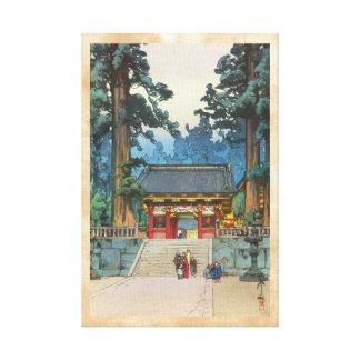 Toshogu Shrine Hiroshi Yoshida japanese fine art Canvas Print