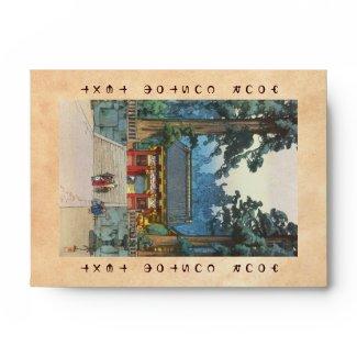 Toshogu Shrine Hiroshi Yoshida japanese fine art Envelope