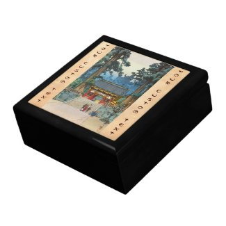 Toshogu Shrine Hiroshi Yoshida japanese fine art Trinket Boxes