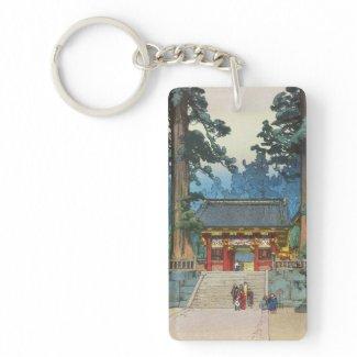 Toshogu Shrine Hiroshi Yoshida japanese fine art Keychains
