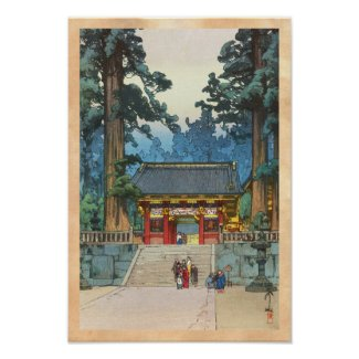 Toshogu Shrine Hiroshi Yoshida japanese fine art Posters