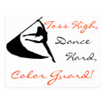 Toss High, Dance Hard, Color Guard Postcard