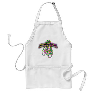 Toss Me Some Beads and Nobody Gets Hurt Apron
