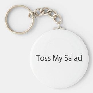 Toss My Salad Basic Round Button Keychain