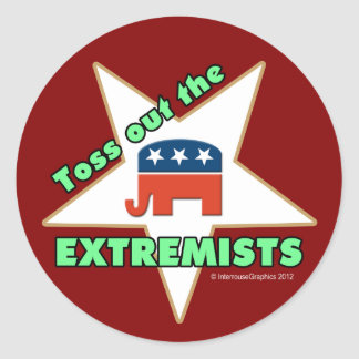 Toss Out the Republican EXTREMISTS! Round Stickers