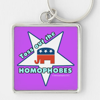 Toss Out the Republican Homophobes! Keychain