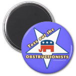 Toss Out the Republican OBSTRUCTIONISTS Fridge Magnet