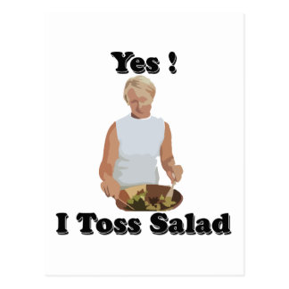 Toss the Salad Postcard