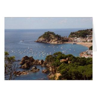 TOSSA DE MAR. Town located in the Costa Brava. Card