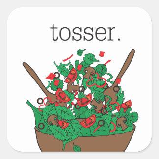 tosser. (salad) square sticker
