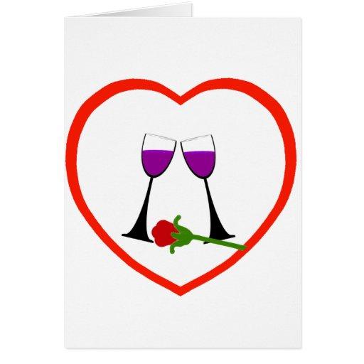 Tostada al amor tarjeta de felicitación